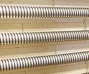 Värmeelement till keramikugn på rör